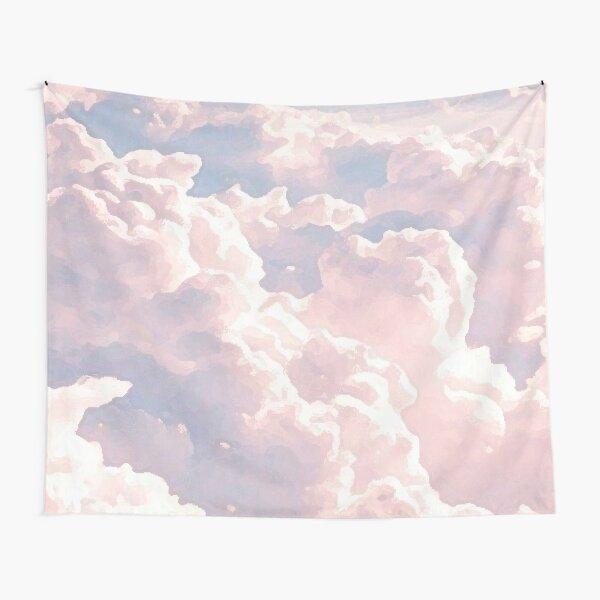 Pintura de nubes rosadas Tela decorativa