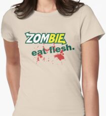 Zombie: Eat Flesh! Women's Fitted T-Shirt