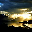 Sunset at Lake Te Anau. South Island, New Zealand. (2)  by Ralph de Zilva