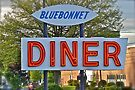 Blue Bonnet Diner Sign - Western Massachusetts by Jack McCabe