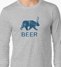 Vintage Beer Bear Deer Long Sleeve T-Shirt