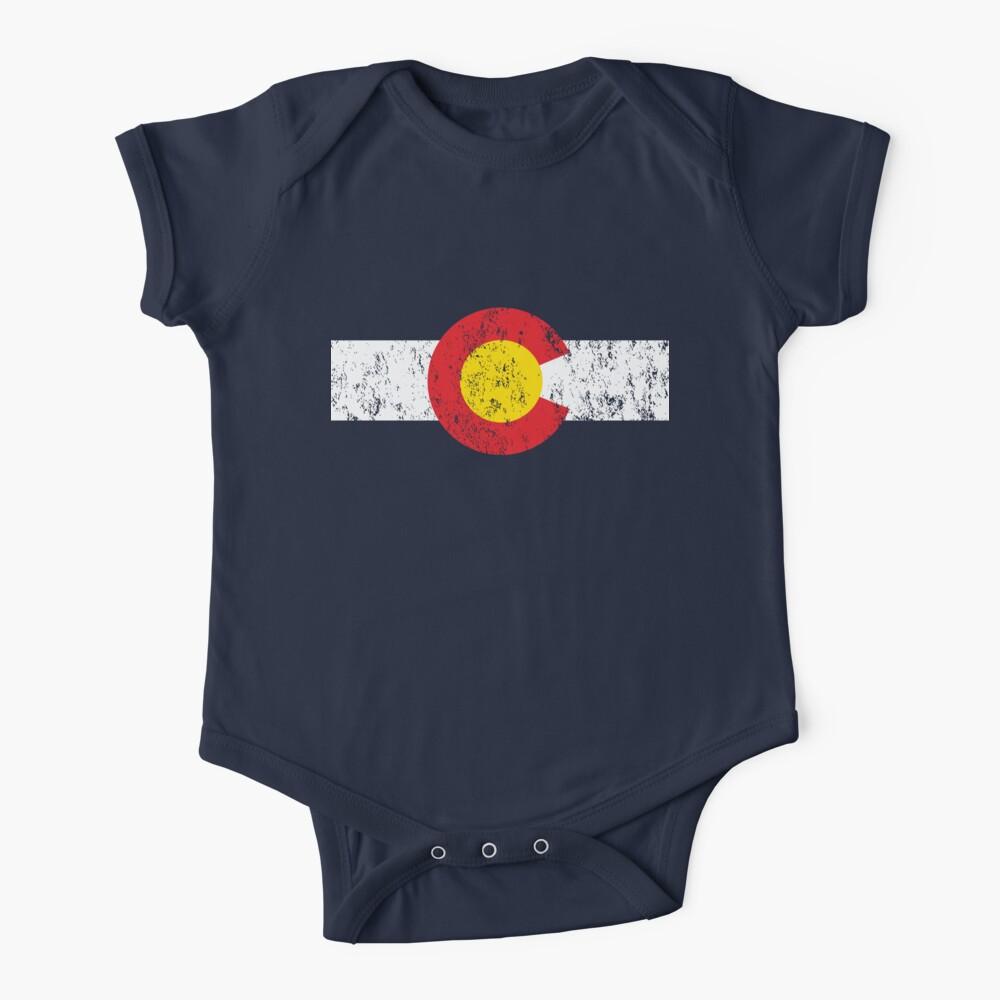 Vintage Colorado Flag Baby One-Piece