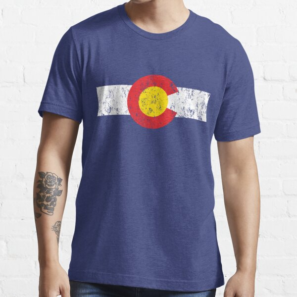 Vintage Colorado Flag Essential T-Shirt