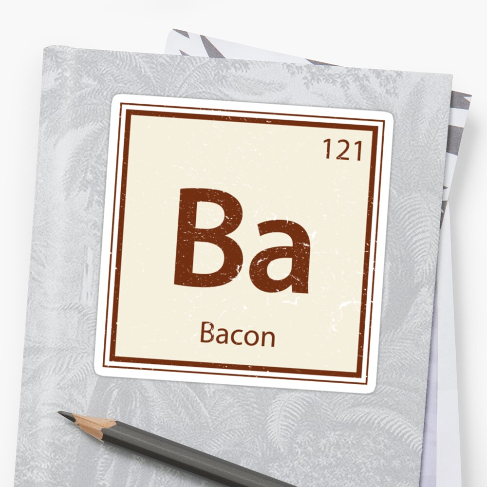Vintage bacon periodic table element stickers by colorhouse vintage bacon periodic table element by colorhouse gamestrikefo Gallery