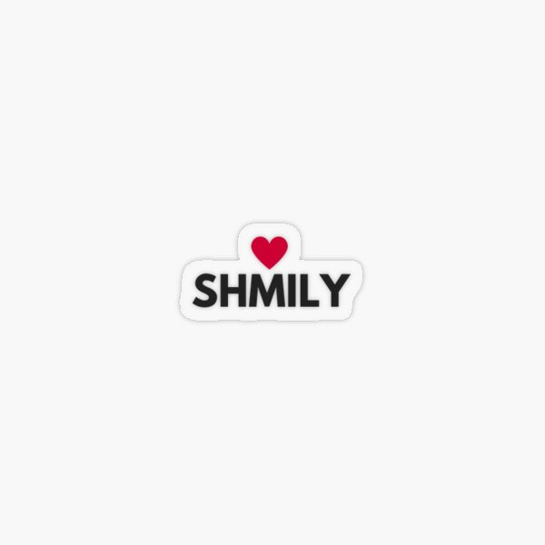 SHMILY See How Much I Love You with Red Heart Transparent Sticker
