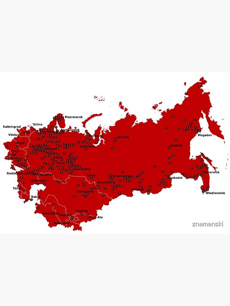 Locations of Gulag camps (1929-1953) by znamenski
