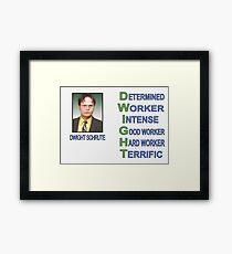 Dwight Schrute Framed Print