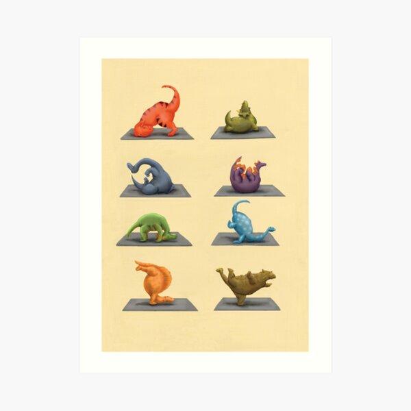 Yogasaurus Art Print