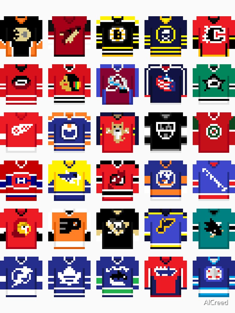 8-Bit Hockey Jerseys '16 by AlCreed