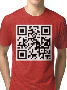 QR code - I'M SO HIP IT HURTS. Tri-blend T-Shirt