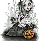 Tris and Fuzzy the Rabbit by DianaLevinArt
