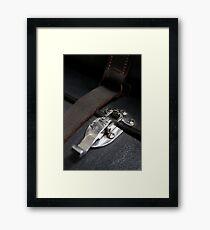 Clipped macro Framed Print