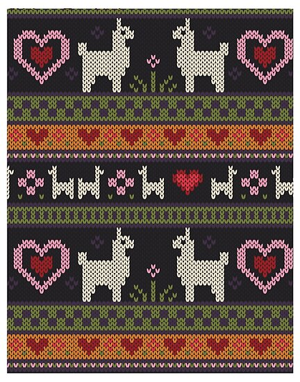 Llama Knit Posters By Kelsey Cretcher Redbubble