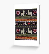 Llama Knit Greeting Card