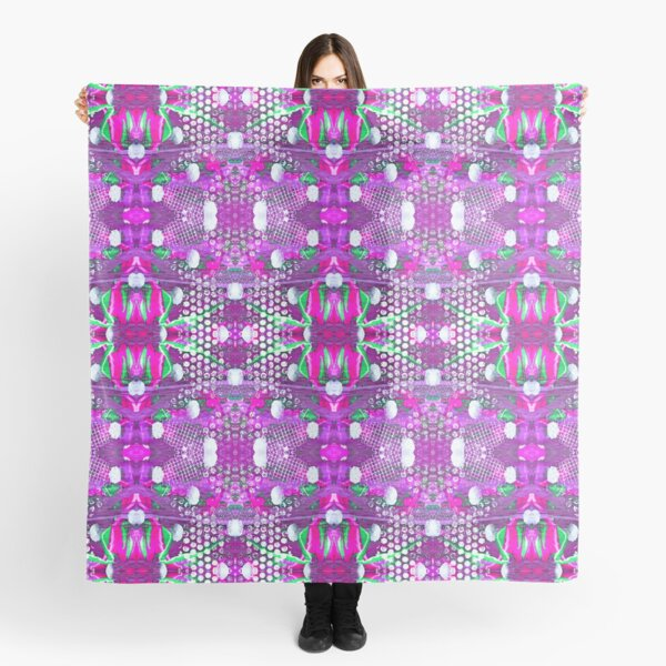 Abstract magenta background. Symmetric seamless pattern. Scarf