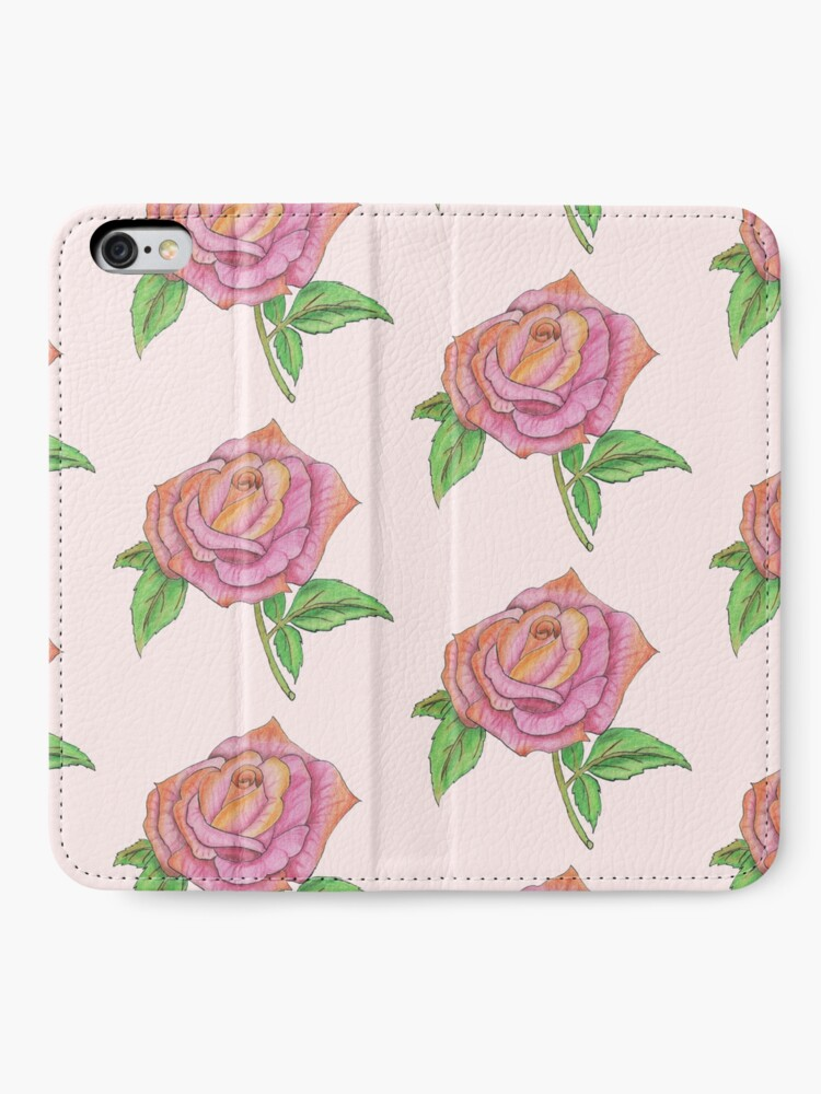 Alternate view of Colorful Rose iPhone Wallet
