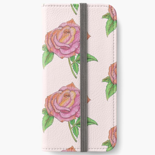 Colorful Rose iPhone Wallet