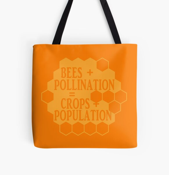 No Bees, No Honey! All Over Print Tote Bag