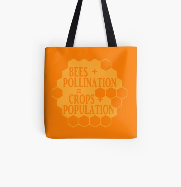 No Bees, No Honey! All Over Print Tote Bag