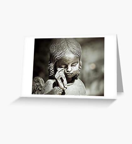 Crying Angel Greeting Card