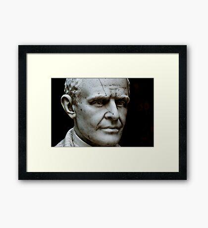 Scarred Man Framed Print