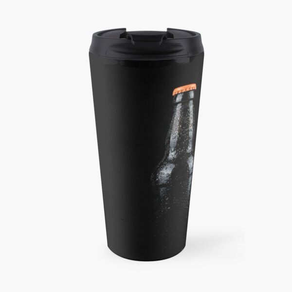 Bottle of beer with water droplets Travel Mug