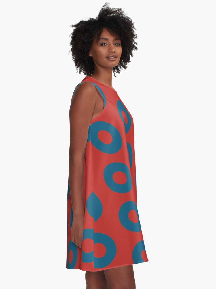 Alternate view of Clone Fishman Donuts - Phish - inverted A-Line Dress