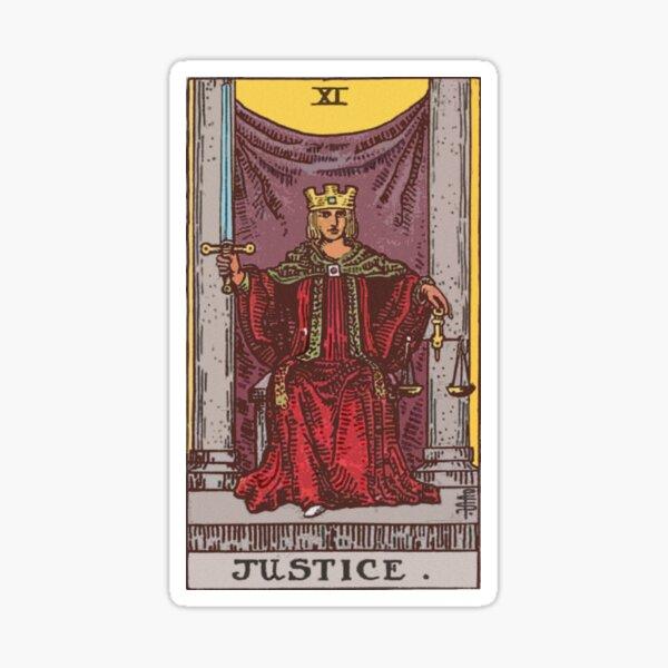 Tarot - Justice Sticker