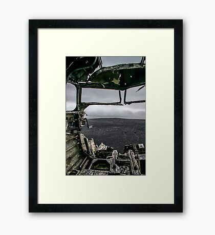 From the Cockpit Framed Print