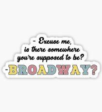 HSMTMTS - Broadway? Sticker