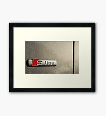 S-Line; Representing Power and Beauty Framed Print