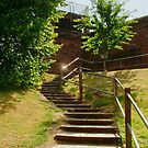 Steps Up to the Roman Walls by AnnDixon
