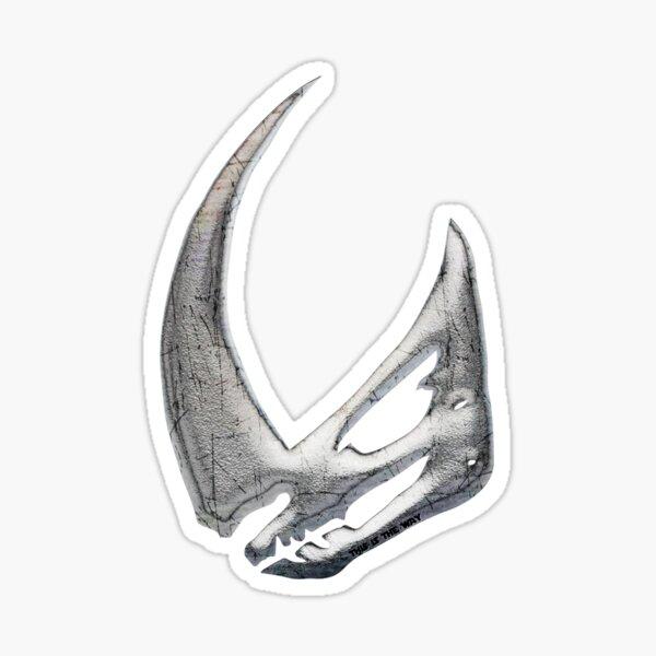 Mudhorn Rhino Skull Crest Achievement für Bounty Hunter Sticker
