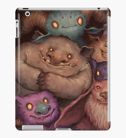 A Snuggle of Gnomes iPad Case/Skin