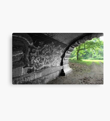 Graffiti Tunnel 2 Canvas Print