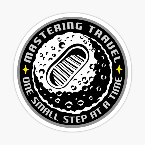 One small step at a time Sticker