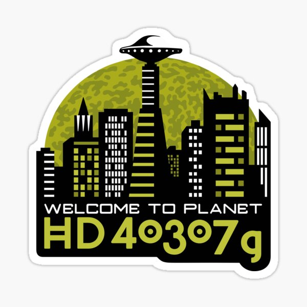 Welcome to mysterious exoplanet Sticker