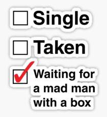 SINGLE TAKEN MAD MAN WITH A BOX Sticker