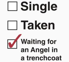 SINGLE TAKEN ANGEL IN TRENCHCOAT