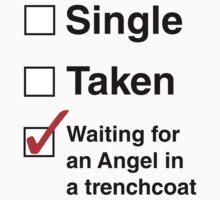 SINGLE TAKEN ANGEL IN TRENCHCOAT