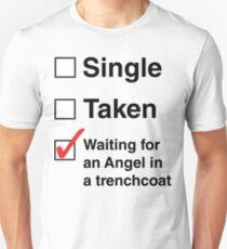 SINGLE TAKEN ANGEL IN TRENCHCOAT Unisex T-Shirt