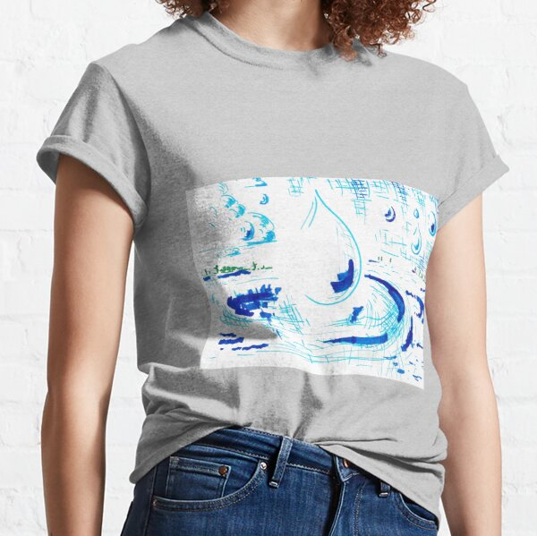 Rain Drops Fall Into a Lake Classic T-Shirt