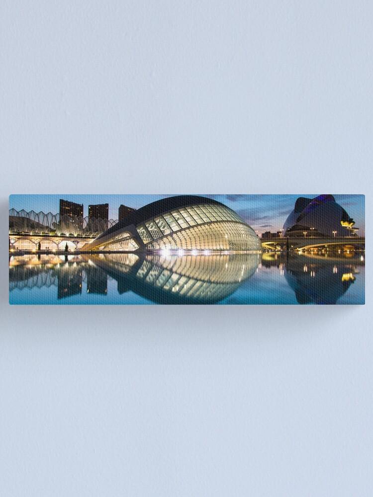 Vista alternativa de Lienzo Panorama nocturno de la Ciudad de las Artes y las Ciencias, Valencia, España