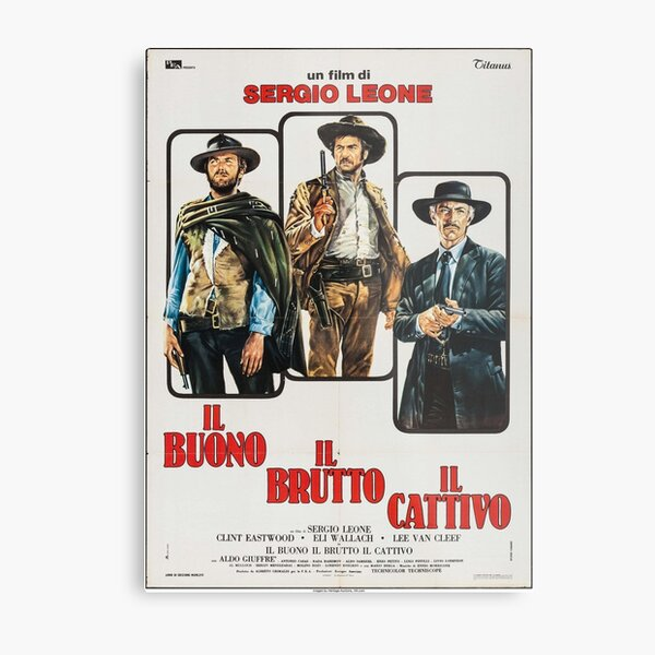 The Good, The Bad and The Ugly - Italian Movie Poster Metal Print