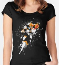 Bass/Forte Splattery Explosion Women's Fitted Scoop T-Shirt