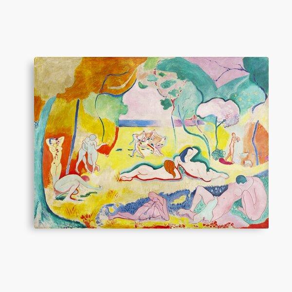 Matisse - Le bonheur de vivre (La joie de vivre) Impression métallique