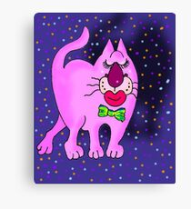 Pretty nosey in Pink Canvas Print
