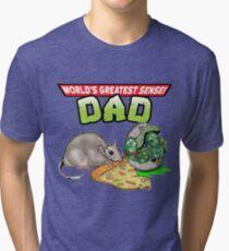 World's Greatest Sensei Dad Tri-blend T-Shirt