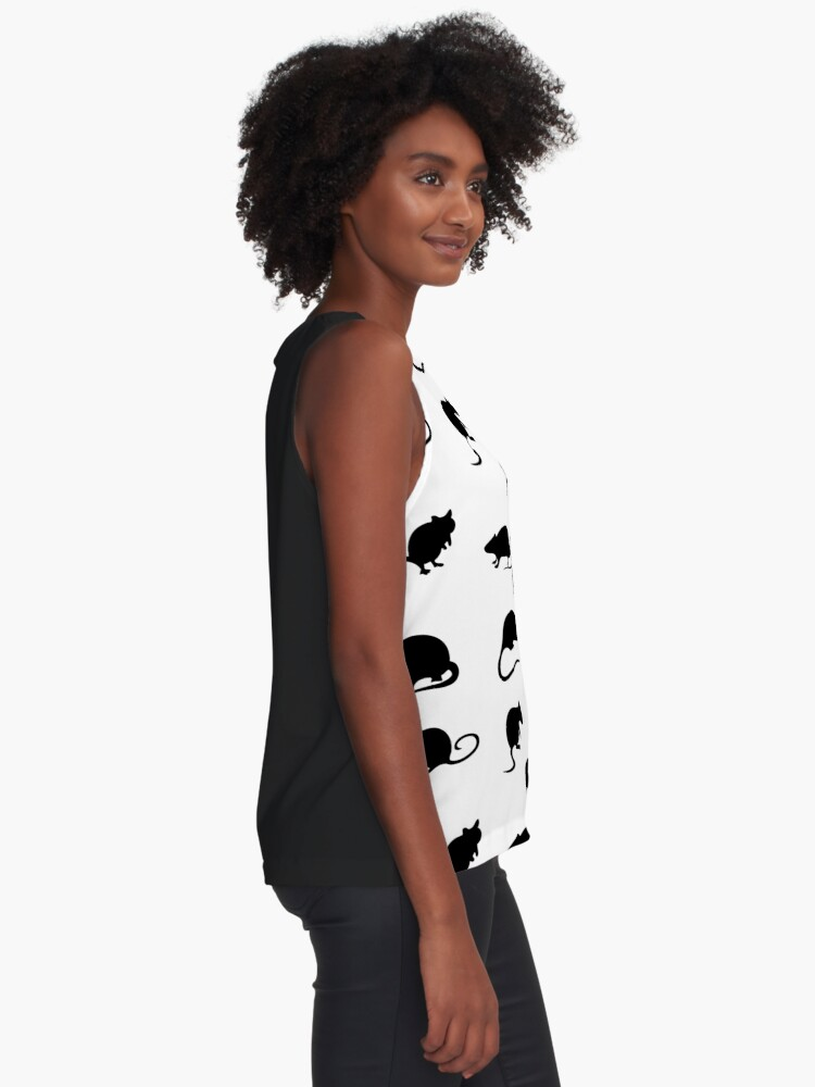 Alternate view of Year Of The Rat Pattern Sleeveless Top