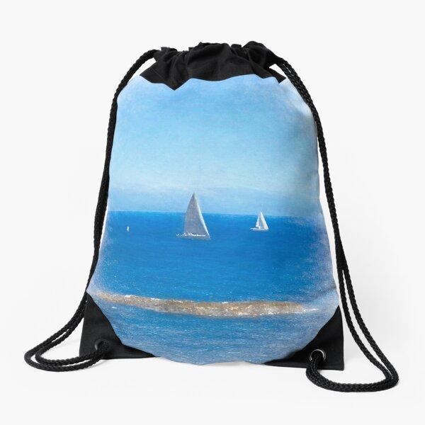 I Saw Three Ships Drawstring Bag